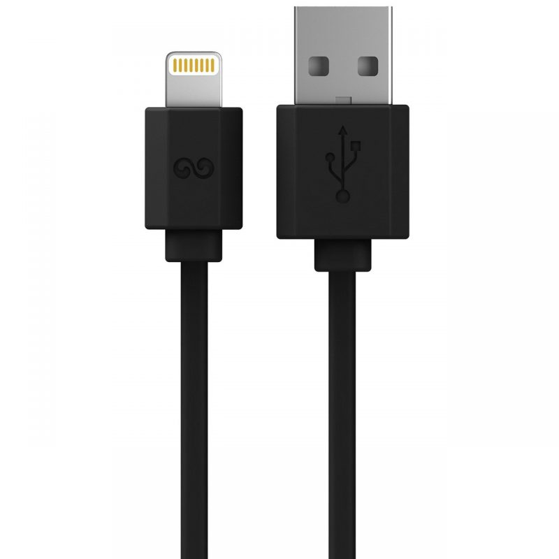 Black Lightning to USB Charge and Sync Cable