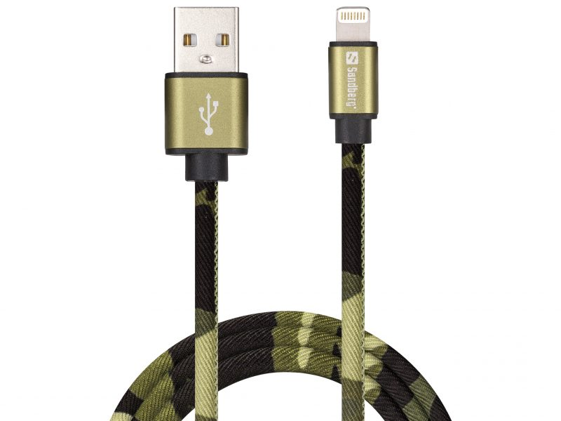 Camouflage MFI Certified Lightning to USB Cable 1m