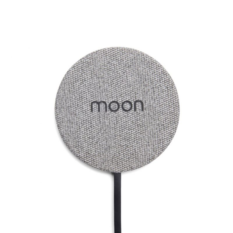 Moon Wireless Charger Pad in Gray