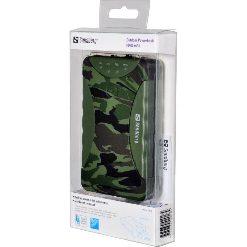 Camouflage Outdoor Powerbank 10400 mAh