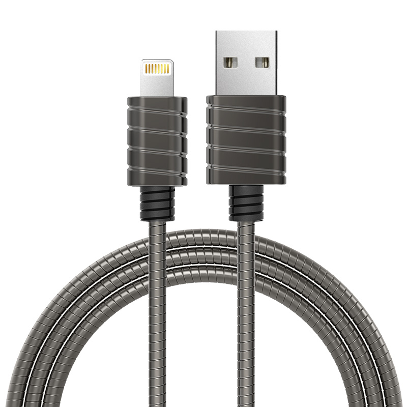 MFI Certified Stainless Steel Sync and Charge Lightning Cable