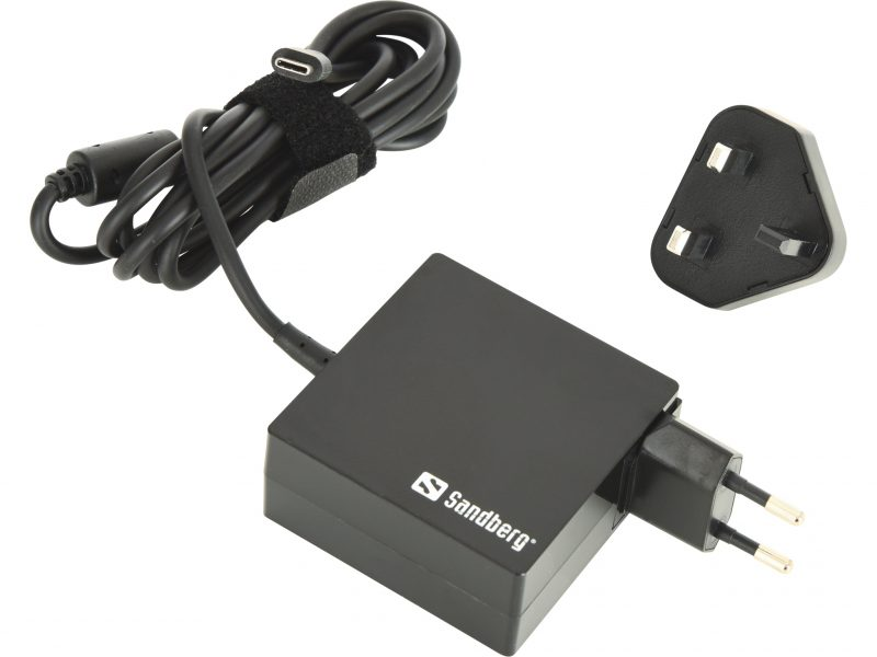 USB-C PD AC-Charger 65W EU and UK for Laptops