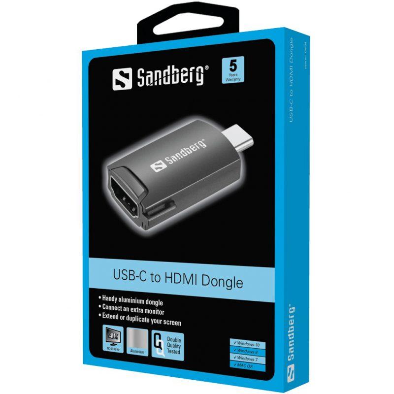 Sandberg USB-C to HDMI Dongle Packaging