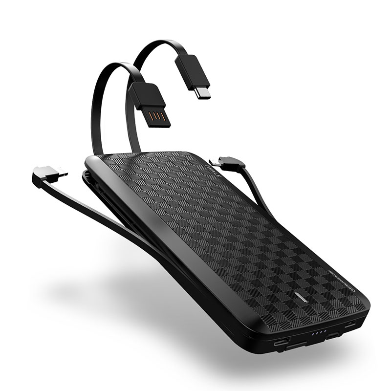 """iWALK """"Scorpion12000X Powerbank with 4 Built-in Cables"""